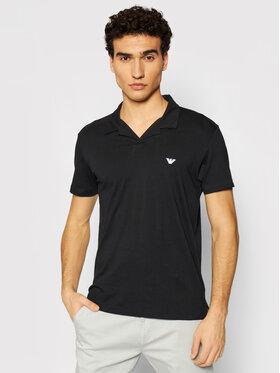 Emporio Armani Emporio Armani Тениска с яка и копчета 211837 1P472 00020 Черен Regular Fit