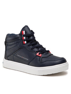 Tommy Hilfiger Tommy Hilfiger Sneakersy Higt Top Lace-Up T3B4-32064-0193 M Granatowy