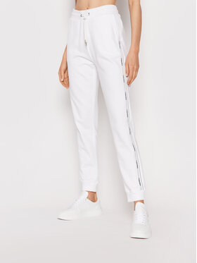 Calvin Klein Calvin Klein Долнище анцуг Logo Tape K20K203116 Бял Slim Fit