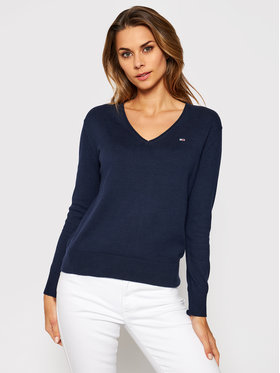 Tommy Jeans Tommy Jeans Pulover Tjw Soft Touch DW0DW08871 Bleumarin Regular Fit