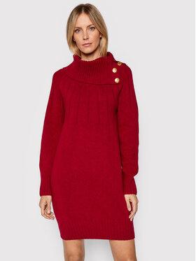 Luisa Spagnoli Luisa Spagnoli Džemper haljina Caravaggio 057408 Tamnocrvena Regular Fit