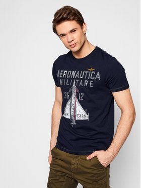 Aeronautica Militare Aeronautica Militare T-shirt 211TS1857J513 Tamnoplava Regular Fit