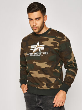 Alpha Industries Alpha Industries Mikina Basic 178302C Zelená Regular Fit