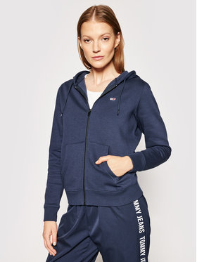 Tommy Jeans Tommy Jeans Суитшърт Zip Through DW0DW10135 Тъмносин Regular Fit