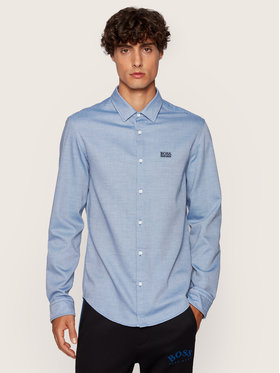 Boss Boss Camicia Brod S 50436188 Blu Slim Fit