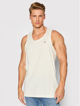 Tommy Jeans Tommy Jeans Tank top Racer Back DM0DM10887 Bej Relaxed Fit