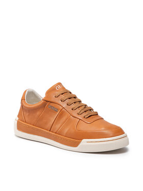Guess Guess Sneakersy Strave FM7STR LEA12 Brązowy