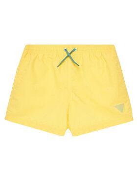 Guess Guess Szorty sportowe L1GZ01 TEL27 Żółty Regular Fit