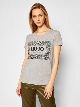 Liu Jo Liu Jo T-Shirt WF0128 J5003 Szary Regular Fit