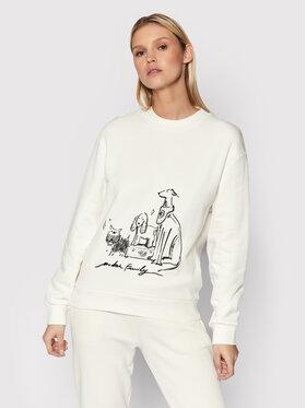 Trussardi Trussardi Sweatshirt 56F00163 Blanc Regular Fit