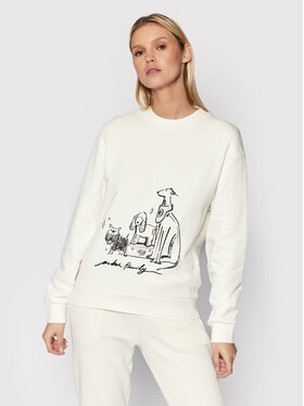 Trussardi Trussardi Sweatshirt 56F00163 Weiß Regular Fit