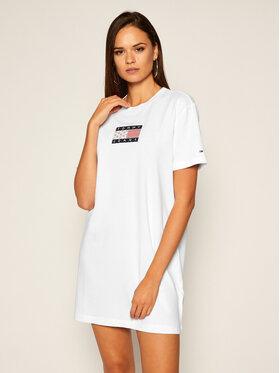 Tommy Jeans Tommy Jeans Úpletové šaty Logo Tee DW0DW08463 Bílá Regular Fit