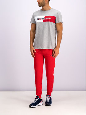 Tommy Sport Tommy Sport T-Shirt Flag Graphics S20S200197 Szary Regular Fit