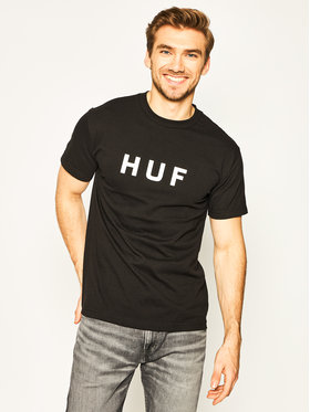 HUF HUF T-Shirt Essentials OG Logo TS00508 Granatowy Regular Fit