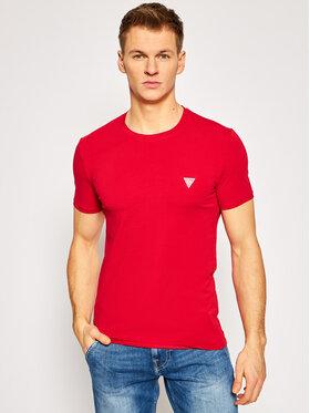 Guess Guess T-Shirt M1RI24 J1311 Czerwony Super Slim Fit