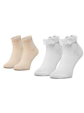 Mayoral Mayoral Set di 2 paia di calzini lunghi da bambini 10787 Bianco