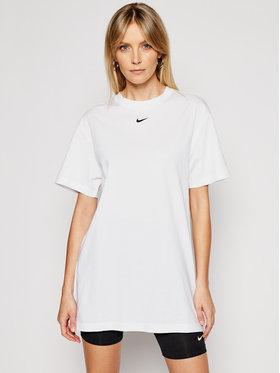 Nike Nike Každodenné šaty Sportswear Essential CJ2242 Biela Loose Fit