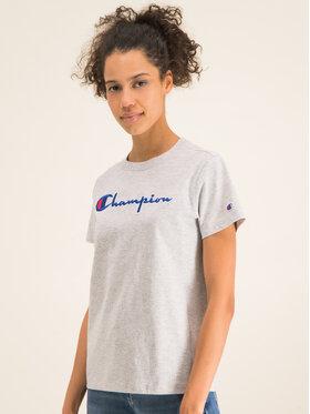 Champion Champion T-Shirt Script Logo 110992 Szary Regular Fit