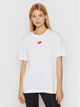 Nike Nike T-Shirt Sportswear DB9817 Bílá Loose Fit