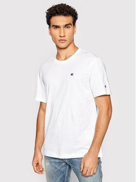 Champion Champion T-Shirt Crewneck 216545 Biały Regular Fit