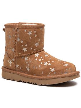 Ugg Ugg Pantofi Kids' Classic Mini II Stars 1115852K Maro