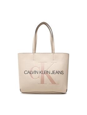 Calvin Klein Jeans Calvin Klein Jeans Rankinė Sculpted Shopper 29 Mono K60K608374 Smėlio