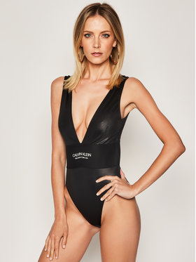 Calvin Klein Swimwear Calvin Klein Swimwear Strój kąpielowy Cheeky Plunge KW0KW00995 Czarny