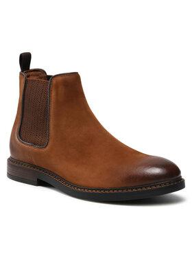 Gino Rossi Gino Rossi Členková obuv s elastickým prvkom MI08-C641-633-14 Hnedá