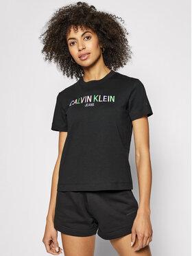 Calvin Klein Jeans Calvin Klein Jeans Tricou J20J215487 Negru Regular Fit