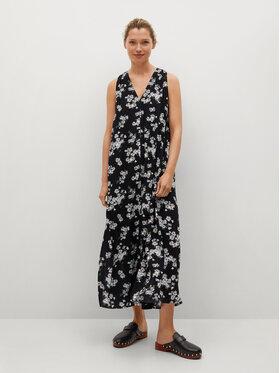 Mango Mango Sukienka koszulowa Kiwi 17040168 Czarny Regular Fit