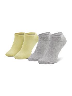 Tommy Hilfiger Tommy Hilfiger Lot de 2 paires de chaussettes basses unisexe 343024001 Jaune