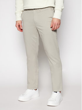 Tommy Hilfiger Tommy Hilfiger Pantaloni din material Denton MW0MW13286 Bej Straight Fit