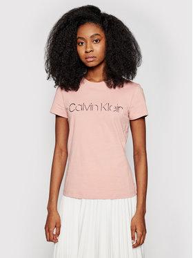 Calvin Klein Calvin Klein Póló Metallic Logo K20K201852 Rózsaszín Slim Fit