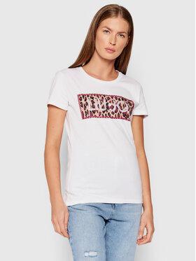 Liu Jo Liu Jo T-shirt WF1381 J0094 Bijela Regular Fit