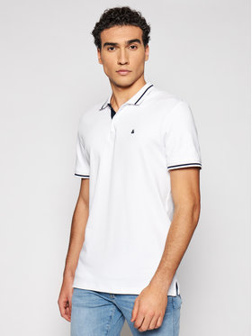 Jack&Jones Jack&Jones Polo Jersey 12180891 Biały Regular Fit