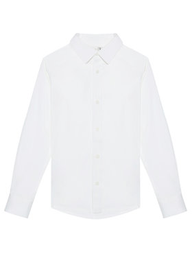 NAME IT NAME IT Chemise Nkmfred 13184223 Blanc Slim Fit