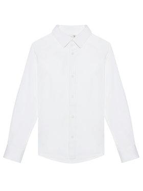 NAME IT NAME IT Koszula Nkmfred 13184223 Biały Slim Fit