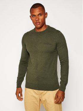Calvin Klein Calvin Klein Megztinis J30J315616 Žalia Regular Fit