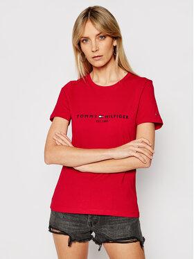 Tommy Hilfiger Tommy Hilfiger T-Shirt Ess WW0WW28681 Czerwony Regular Fit