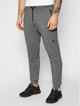 4F 4F Spodnie dresowe H4L21-SPMD012 Szary Slim Fit