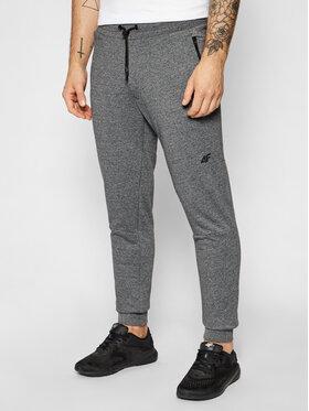 4F 4F Teplákové kalhoty SPMD012 Šedá Slim Fit