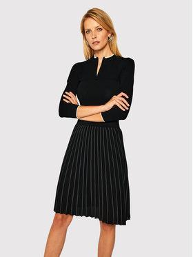 KARL LAGERFELD KARL LAGERFELD Úpletové šaty Knitwear 206W1360 Černá Regular Fit