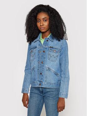 Wrangler Wrangler Kurtka jeansowa 124WJ W4WJUG24L Granatowy Regular Fit