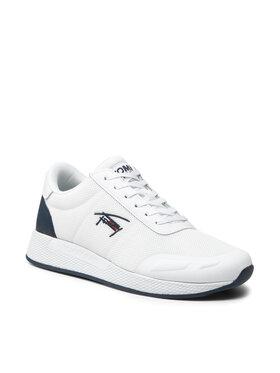 Tommy Jeans Tommy Jeans Sneakersy Flexi Mesh Tjm Runner EM0EM00724 Biela