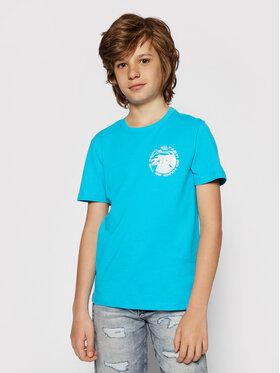 4F 4F T-Shirt HJL21-JTSM008B Blau Regular Fit