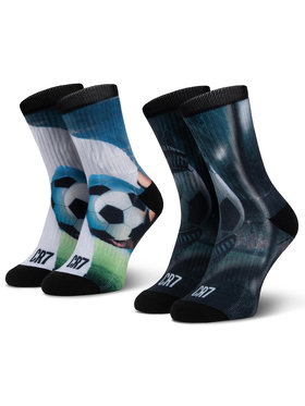 Cristiano Ronaldo CR7 Cristiano Ronaldo CR7 Σετ ψηλές κάλτσες παιδικές 2 τεμαχίων 8471-82-105 Μαύρο