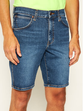 Wrangler Wrangler Pantaloncini di jeans 5 Pocket W14CT112E Blu scuro Regular Fit