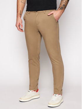 Jack&Jones Jack&Jones Spodnie materiałowe Marco Bowie 12150160 Beżowy Slim Fit