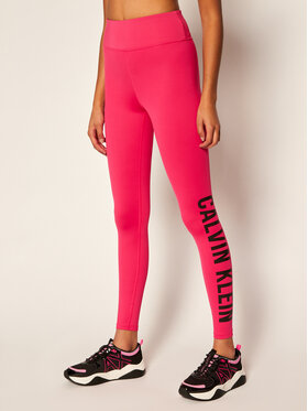 Calvin Klein Performance Calvin Klein Performance Legginsy High Rise Logo Gym 00GWT0L633 Różowy Slim Fit