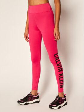 Calvin Klein Performance Calvin Klein Performance Leginsai High Rise Logo Gym 00GWT0L633 Rožinė Slim Fit